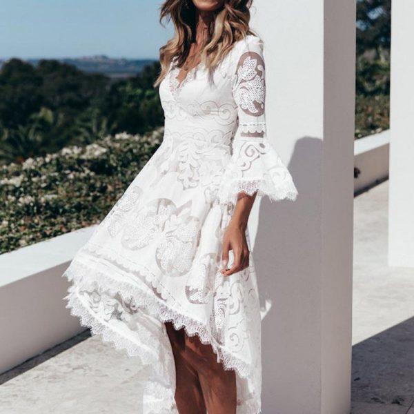 Bohemian Dress Short Front Long Back