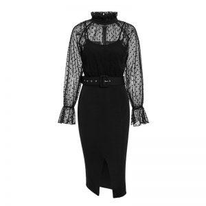 Bohemian Chic Black Dress