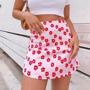 Bohemian Pink Ultra Short Skirt