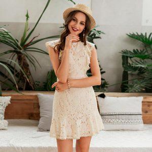 Esprit Chic Bohemian Lace Short Dress