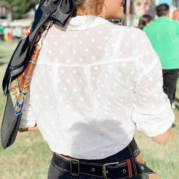 White Bohemian Top for Women