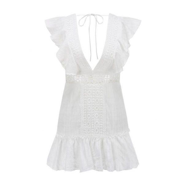 Short white dress bohemian spirit