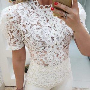 White Bohemian Lace Tunic