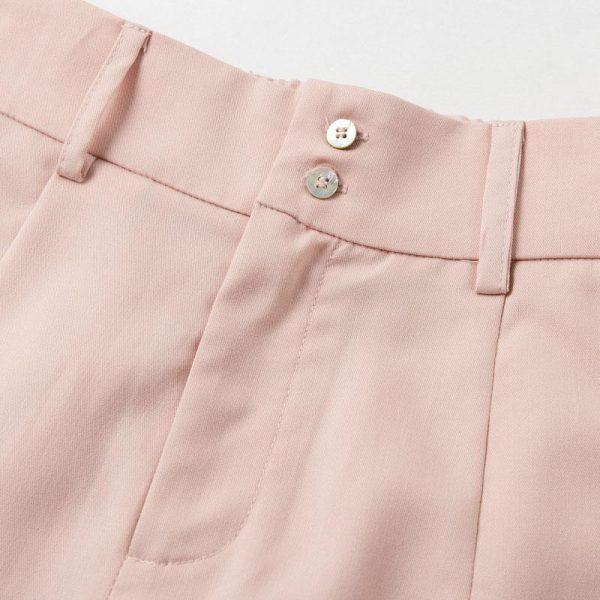 Simplee High Waist Casual Women Pants Summer Spring Solid Pink Trousers Wide Leg Work Wear Office Lady Ruffles Vintage Pants