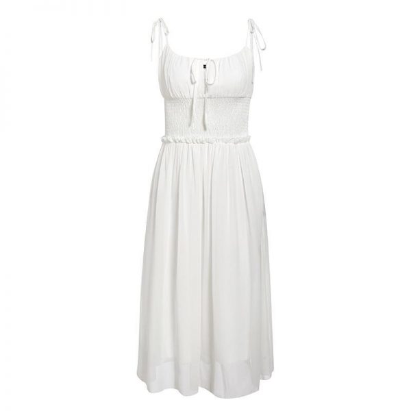 Simple White Bohemian Dress