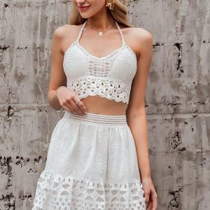 White hippie chic skirt