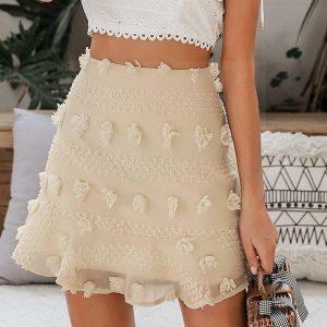 Ivory bohemian skirt