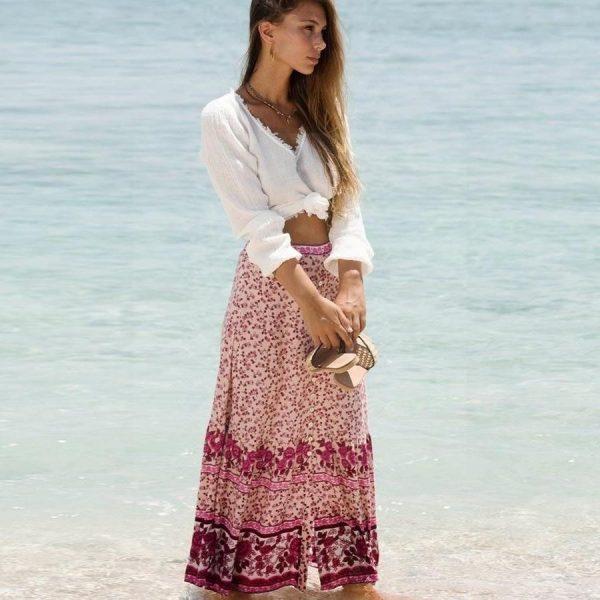Long skirt boheme split