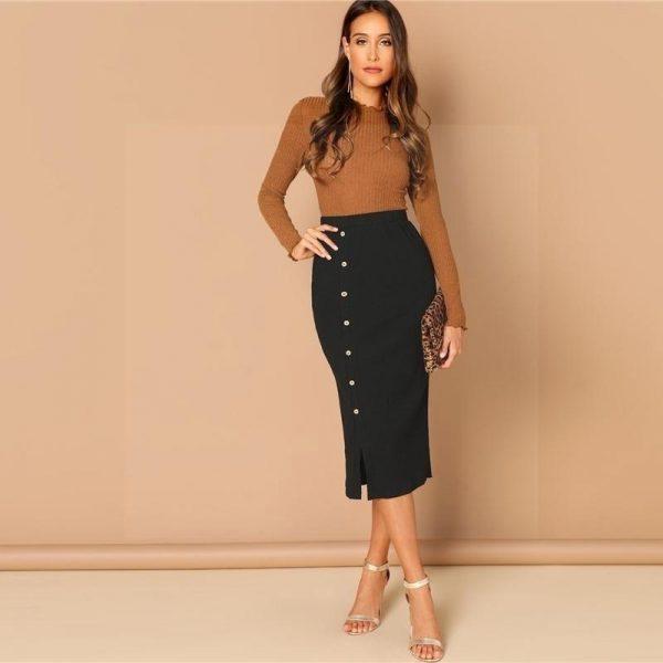 Long skirt boheme black