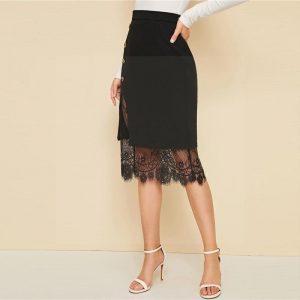 Chic bohemian lace skirt