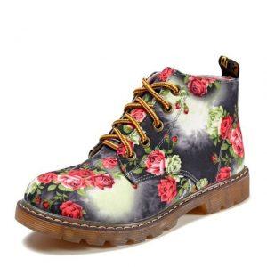 Retro Bohemian Flowered Boots