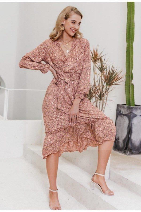 Bohemian hippie maxi dress