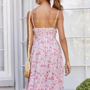 Long dress boheme old pink