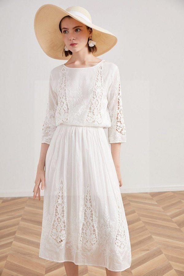 Bohemian chic lace maxi dress
